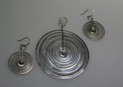 Tapio Wirkkala Silver Moon earrings