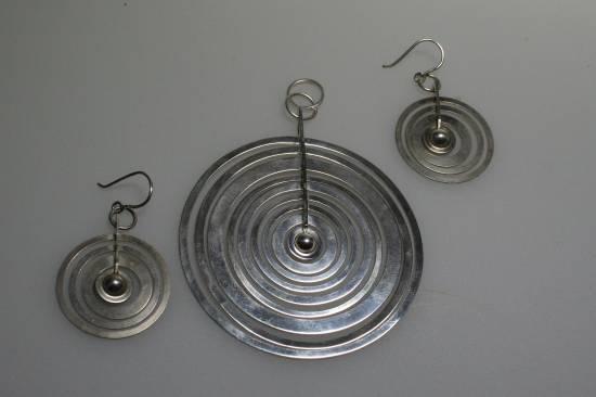 Tapio Wirkkala Silver Moon earrings